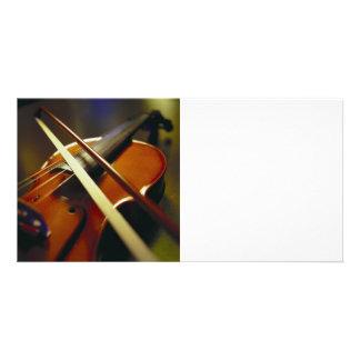 Violin Bow Close-Up 1 Photo Card Template
