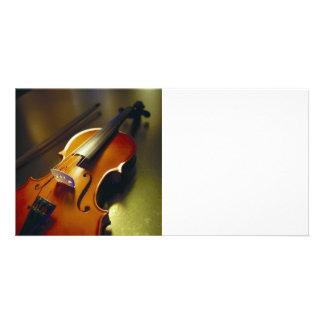 Violin & Bow Close-Up 2 Photo Card