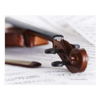 Violin Bow Postcard