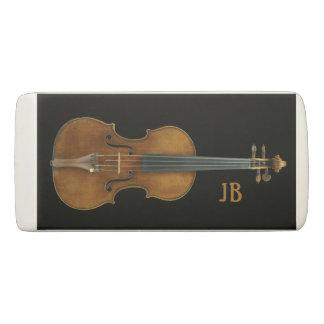 Violin by Stradivari with Custom Initials Eraser