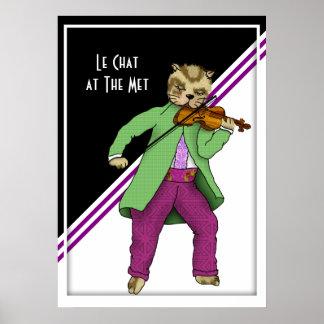 Violin Cat in Concert Poster