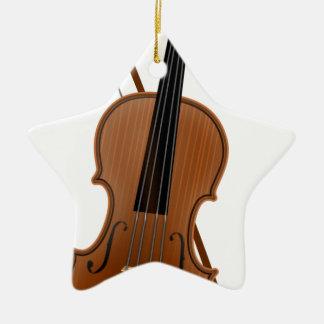 Violin Ceramic Ornament