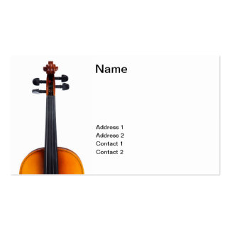 Violin close up business card templates