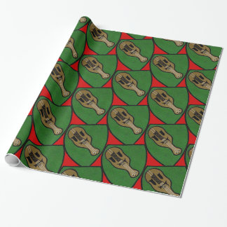 Violin Crest Wrapping Paper