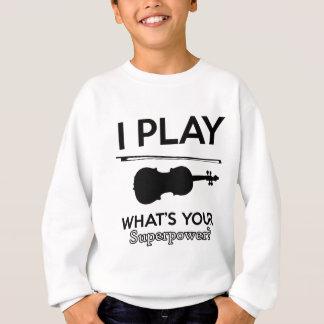 violin designs sweatshirt