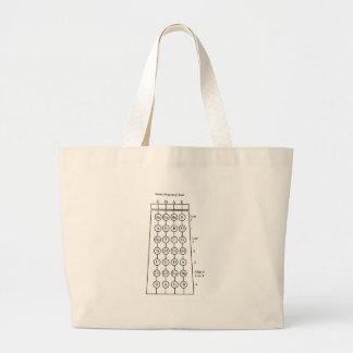 Violin Fingering Chart Jumbo Tote Bag