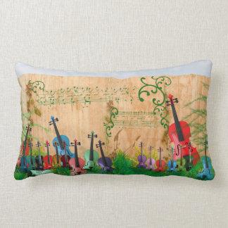 Violin Garden Lumbar Cushion