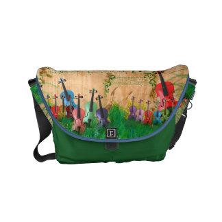 Violin Garden Messenger Bags