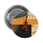 Violin in Abstract Pin