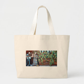 violin in the park canvas bag
