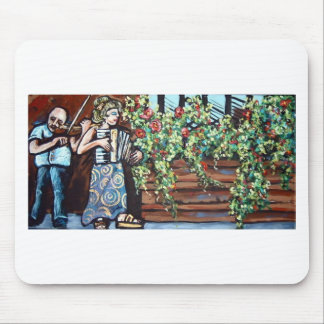 violin in the park mouse pad