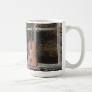 Violin in the Window: Original Version: Coffee Mug