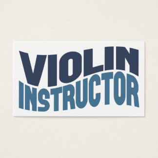 Violin Instructor Business Cards