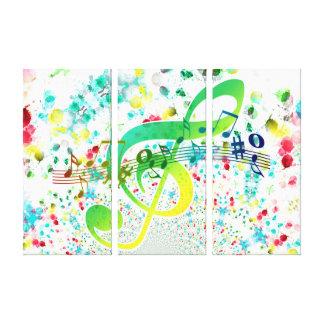 Violin key canvas print