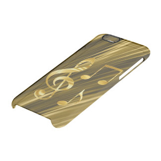 Violin key golden clear iPhone 6/6S case