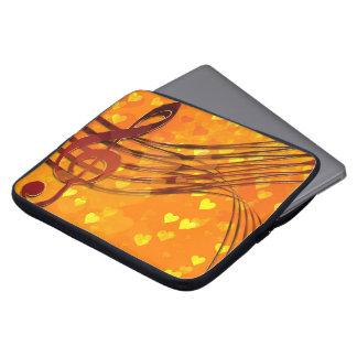 Violin key laptop sleeve