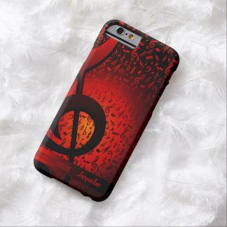 Violin Key Music G-Clef Note Barely There iPhone 6 Case