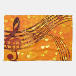 Violin key tea towel