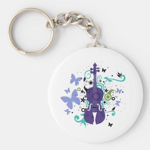 Violin Keychain