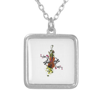 Violin Love Silver Plated Necklace