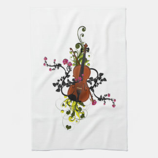 Violin Love Tea Towel