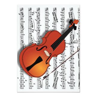 Violin Lover,Join Us_Invitation Card