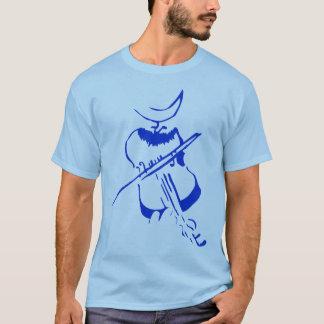 Violin Man Blue T-Shirt