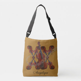 Violin Music Design with your text Crossbody Bag