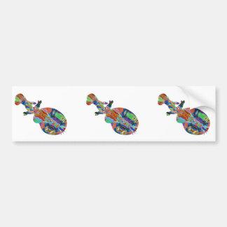 VIOLIN Music Insrument Abstract Colorful Art fun Bumper Sticker