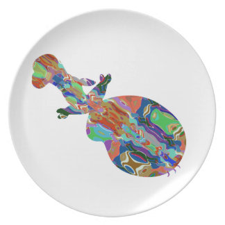 VIOLIN Music Insrument Abstract Colorful Art fun Dinner Plates