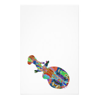 VIOLIN Music Insrument Abstract Colorful Art fun Stationery
