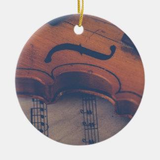 Violin Music Instrument Classic Musical Instrument Ceramic Ornament