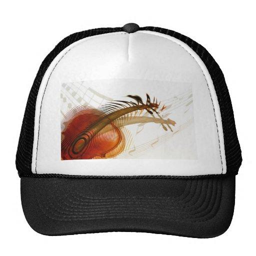 Violin Music  Instruments Celebration Destiny Mesh Hats