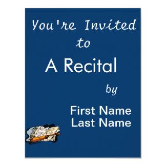 """violin music jar still life.png 4.25"""" x 5.5"""" invitation card"""