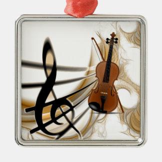 Violin Music Metal Ornament