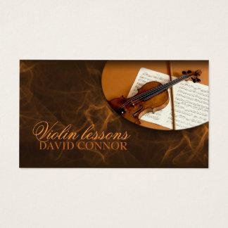 Violin Music Teacher Classic Business Card