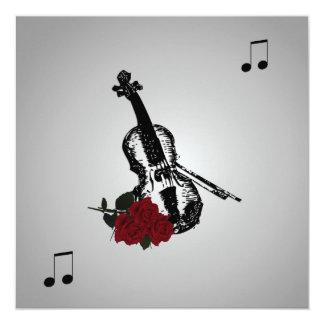 Violin Music Wedding Invitation