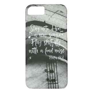 Violin, Music with Psalms Bible Verse iPhone 8/7 Case