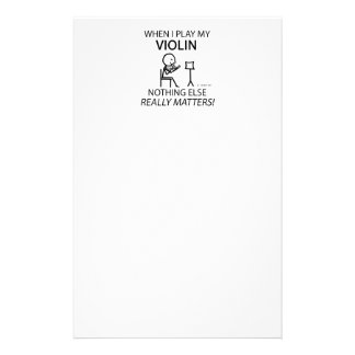 Violin Nothing Else Matters Personalized Stationery