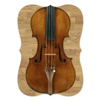 Violin on Wood Panels Recital Invitation