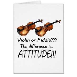 Violin or Fiddle??? Card