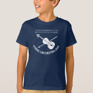 Violin orchestra personalized strings t-shirt
