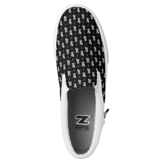 Violin Pattern - Black and White Printed Shoes