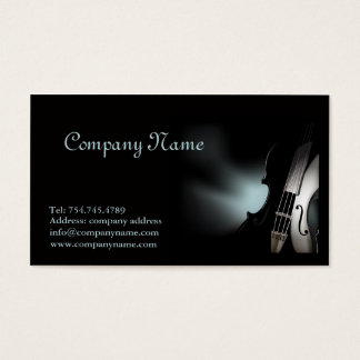 Violin Player or Musician Business Card Template