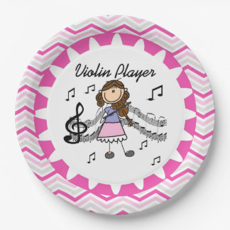 Violin Player Paper Plates