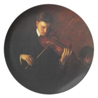 Violin Player Plate