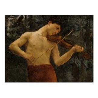 Violin Player Postcard