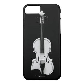 Violin Portrait - Black and White Photograph iPhone 8/7 Case