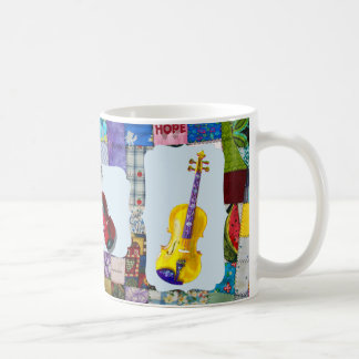 VIOLIN-QUILTED COFFEE MUG