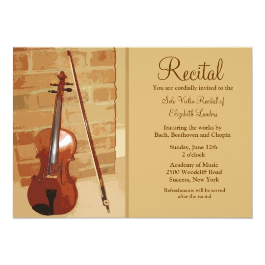 Violin Recital Invitation